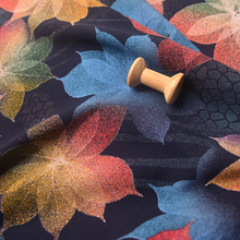 彩色花朵暗纹舒香绸精品棉绸布料 ki13袍汉服si不易皱面料