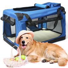 狗笼车ki狗窝外出便so物箱包车载旅行笼猫狗笼子折叠中大型犬