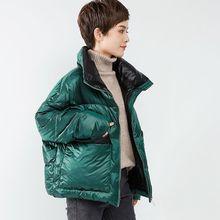 XM反ki棉服女20so式冬季宽松大码面包服短式棉袄棉衣外