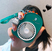 202ki新式便携式ez扇usb可充电 可爱恐龙(小)型口袋电风扇迷你学生随身携带手