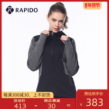 RAPkmDO 雳霹dy季女士磨毛梭织拼接连帽保暖跑步运动休闲夹克