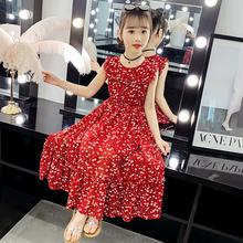 女童连kn裙2020zx式宝宝碎花雪纺沙滩裙女孩洋气波西米亚长裙