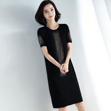 [ko2]冰丝针织衫连衣裙子中长款