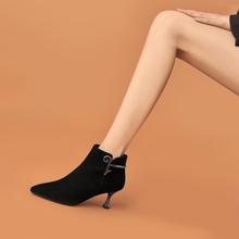 漂亮新款尖头秋冬款短靴女
