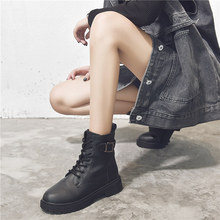 马丁靴ko伦风显脚(小)in女春秋薄式2020年新式百搭网红ins潮鞋