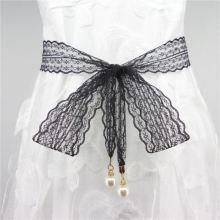 绳子女ko长方形网红vv子腰带装饰宽大汉服弹力潮时装裤链蕾丝