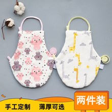 宝宝婴ko肚兜纯棉秋mi儿宝宝加厚保暖护肚围0-2-3岁四季通用