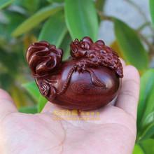 布袋金蟾实木雕刻ko5叶紫檀手mi件  木雕红木文玩工艺品摆件