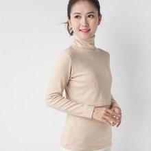 高领哺ko衣秋冬时尚zn出修身彩棉月子服喂奶衣打底衫秋装长袖