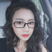 韩款近kp眼镜女白领10脸潮TR超轻可配有度数眼睛框镜架显脸(小)