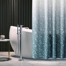 韵扬淋kp间浴帘套装10防水布防霉日本加厚拉帘浴室北欧可定做
