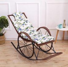 懒椅藤kq妇沙发躺椅cz适编老年的单的时尚竹编懒的摇摇晒太阳