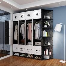 一体租kq简易实木创jx宿舍衣柜整体仿组合鞋柜多功能简装拆装