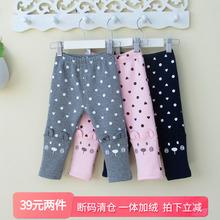 清仓 kq童女童子加ku春秋冬婴儿外穿长裤公主1-3岁