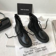 (小)sukq家韩款inwx英伦风复古机车chic马丁靴夏季薄式女2021短靴