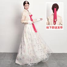 韩服女kq韩国传统服qc结婚朝鲜民族表演舞台舞蹈演出古装套装