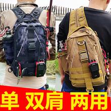 路亚包多功能单双kq5两用(小)背nf彩钓鱼男士战术单肩斜挎胸包