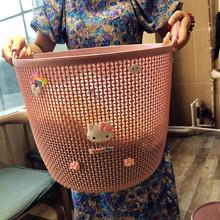 特大号kr料脏衣篮洗ic装衣物篮子浴室放脏衣服桶玩具框收纳筐