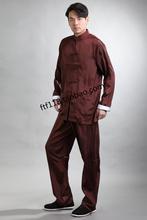 米尼也唐装男kt3真丝绸套cb太极服装男款汉服中老年长袖