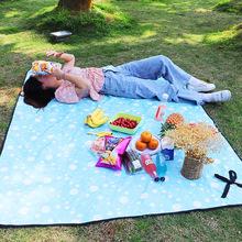 野餐垫ku外便携防水nge防潮垫加厚大野餐垫ins风超大清新草地垫