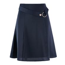 雪纺半ku裙春女 aun夏季2021新式时尚包臀西裙中长式职业裙子