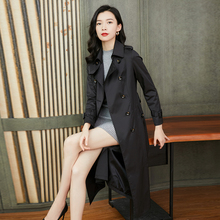 风衣女ku长式春秋2la新式流行女式休闲气质薄式秋季显瘦外套过膝
