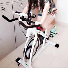 有氧传ku动感脚撑蹬un器骑车单车秋冬健身脚蹬车带计数家用全