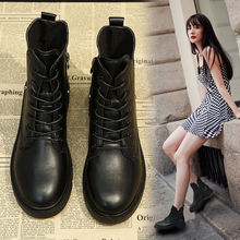 13马ku靴女英伦风ng搭女鞋2020新式秋式靴子网红冬季加绒短靴