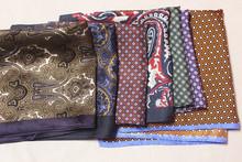 出口原ku外贸真丝印ru巾胸巾手帕男士西装配饰多色结婚