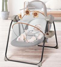 新生儿ku床蚊帐透气un摇椅床带娃睡觉宝宝躺椅安抚椅