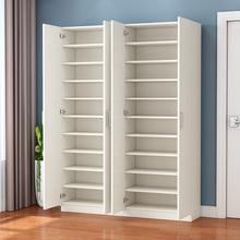 阳台鞋柜现代简约家用门口大容量ku12木鞋柜ba多功能门厅柜
