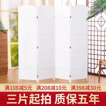 中式屏风客厅卧室经济型ku8关折叠移ba约实木(小)户型隔断装饰