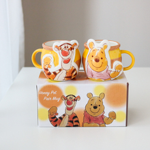 W19kw2日本迪士zj熊/跳跳虎闺蜜情侣马克杯创意咖啡杯奶杯