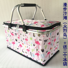 便携家ky大号食品冷ru冰包防水保冷袋(小)号外卖送餐箱子