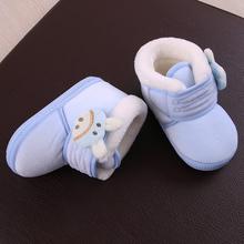 婴儿鞋ky0-1岁新yf前学步鞋软底男宝宝棉鞋女6个月(小)童雪地靴