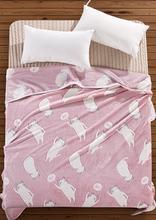 珊瑚绒学生ky2子法兰绒ie毯盖毯床单薄午睡空调毯夏季法莱绒