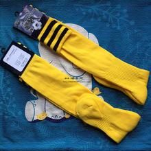 包邮黄色足球袜男长筒袜过
