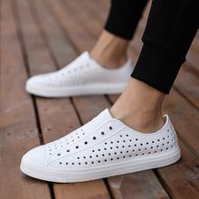 旋风十一的胡歌同式凉鞋男女夏ky11洞洞鞋np滩鞋护士(小)白鞋