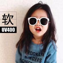 出口 l1童太阳镜眼09潮男童女童宝宝防紫外线偏光镜硅胶软框