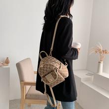 女生背l32020新3d双肩包女韩款(小)型两用斜挎时尚(小)书包逛街用