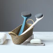 洗澡刷la长柄搓背搓ou后背搓澡巾软毛不求的搓泥身体刷