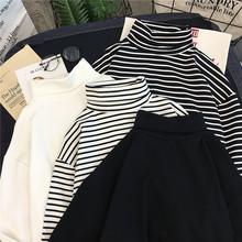 2021年新款内搭高la7长袖t恤la打底女装衫春秋冬季洋气上衣