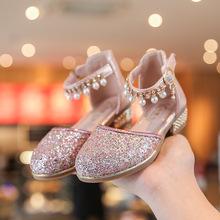 202la夏季新式女ij公主鞋亮片水晶鞋走秀童鞋学生演出跳舞鞋