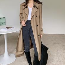 欧货高la2020春hi式全棉双排扣风衣肩章英伦外套中长式风衣