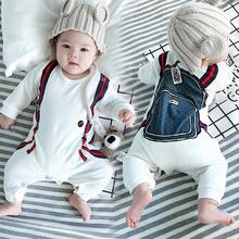 男婴儿la体衣服女宝hi0夏装3春装6个月1岁套装婴幼儿可爱时尚