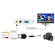 AV转la0GA转换ai显示器看机顶盒电视 免开主机 送音频头(小)音箱