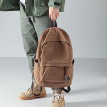 布叮堡la式双肩包男be约帆布包背包旅行包学生书包男时尚潮流