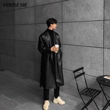二十三la秋春季修身si韩款潮流长式帅气青年休闲 ins风衣外套