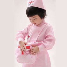 宝宝护la(小)医生幼儿al女童演出女孩过家家套装白大褂职业服装