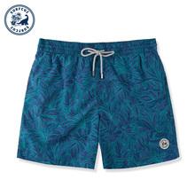 surlacuz 温he宽松大码海边度假可下水沙滩短裤男泳衣